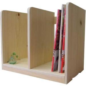 木製ブックスタンド(幅40センチ)本棚 (無塗装白木) 受注製作|angelsdust