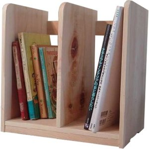 木製ブックスタンド(幅33センチ)本棚 (無塗装白木) 受注製作|angelsdust