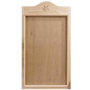 カレンダーフレーム 木製 ひのき 無塗装白木 麦の穂 バーニング USAカレンダー 受注製作|angelsdust