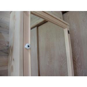 ミラー扉の木製キャビネットシェルフ 背板つき(50×15×70cm) (無塗装白木) 受注製作|angelsdust|02
