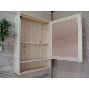 ミラー扉の木製キャビネットシェルフ 背板つき(50×15×70cm) (無塗装白木) 受注製作|angelsdust|04