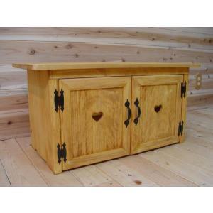 ナチュラル ハートの木製テレビ台(W86×H42cm)受注製作|angelsdust