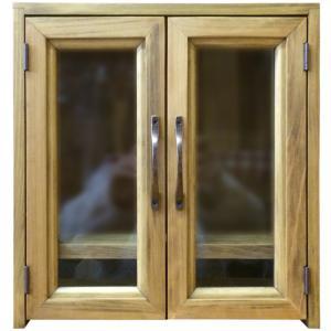 透明ガラス扉のペット用メモリアルハウス(ペット用仏壇) (アンティークブラウン) 受注製作|angelsdust