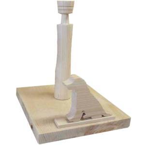ロールペーパーホルダー 角型 ゴールデンレトリバーの卓上トイレットペーパースタンド(無塗装白木)受注製作|angelsdust