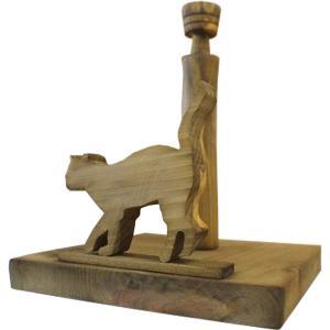 ロールペーパーホルダー 角型 シャム猫の卓上トイレットペーパースタンド(アンティークブラウン)受注製作|angelsdust