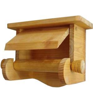 押さえカバー付き木製シェルフトイレットペーパーホルダー (ナチュラル) 受注製作|angelsdust