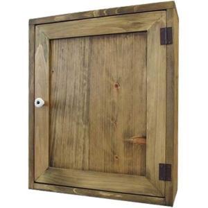 トイレットペーパーラック 二段仕様 アンティークブラウン w38d14h46cm 木製扉 木製 ひのき 受注製作|angelsdust