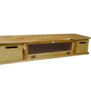 テレビ台 50型 ナチュラル 収納BOX付き w120d36h26cm チェッカーガラス扉 木製 ひのき 受注製作|angelsdust