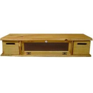 テレビ台 50型 チェッカーガラス扉 ナチュラル w120d36h22cm 収納BOX付き 木製 ひのき 受注製作|angelsdust