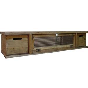 テレビ台 50型 収納ボックス付き アンティークブラウン w120d36h26cm チェッカーガラス扉 木製 ひのき 受注製作|angelsdust