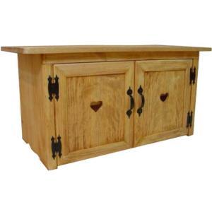 テレビ台 37型 木製扉 ナチュラル w86d39.5h42cm カントリーハート 木製 ひのき 受注製作 angelsdust