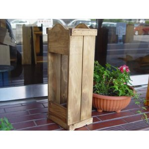 アンティークブラウン  ストレートタイプカントリー木製かさたて(S 15×20×50cm)受注製作|angelsdust