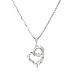 ネックレスレディース クロスフォーニューヨーク ストーンペンダント 揺れるネックレス ホワイトデ- プレゼント ギフト「D-3tone Heart」NYP-585|angelshokora