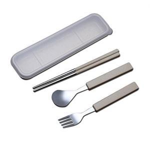 Tentock コンビセット ポータブル食器 環境保護 麦藁 ステンレス鋼 箸 + スプーン 大人子...