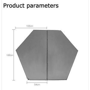 1.六角形のマットレス:108 * 54 * 188 * 2.5CM、オーバーサイズ、190Tポンジ...