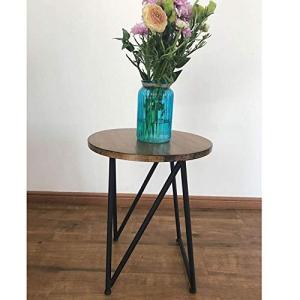 サイズ:50 * 40CM材質:鉄+パイン耐久性と安定した構造:私たちのソファのサイドテーブルは、耐...