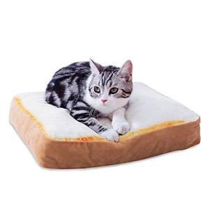 ペットベッド トースト型 犬 猫用 おもしろグッズ パン型 ソファ ふわふわ 洗える クッション 食...