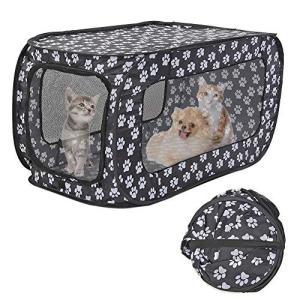 Binbinbang ポータブルケージ ソフトケージ 猫 猫折りたたみケージ ペットケージ キャリー...