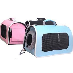LilyAngel ペットキャリアバックパック、オックスフォードスペースカプセルの透明な携帯用バックパックの 旅行ペットケージ用小型中犬および猫の画像