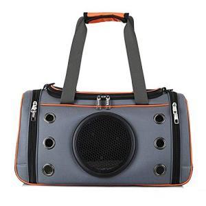 LilyAngel 携帯用バックパックペット犬用バッグ折りたたみ式ペットスペース用バッグ (色 : オレンジ, サイズ : S)の画像
