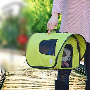 LilyAngel 携帯用犬の袋の猫の袋の日焼け止めの通気性のペットファッションショルダーバッグハンドバッグ (色 : オレンジ, サイズ :の画像