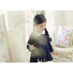 子供服 長袖 ワンピース キッズドレス 清楚 濃紺 冠婚葬祭 入学式 ワンピース ネイビー 襟付き ワンピース サイズ 30%オフ|angelsrobe