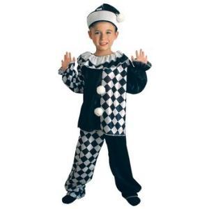 ハロウィン ピエロ PIERROT PETE 子ども用  ハロウィンパーティ 発表会 コスチューム 文化祭 仮装|angelsrobe