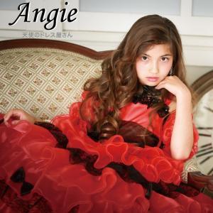 アンジー アームアクセサリー付き 子供ドレス 赤 110cm-150cm ネコポス不可 返品交換不可 M便1/0|angelsrobe