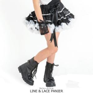 ラインレースパニエ リボンブローチ付き 子供服 ブラック 110cm 130cm 150cm ネコポス不可商品[M便1/0]|angelsrobe