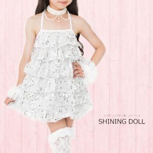 シャイニングドール ワンピース 子供服 ホワイト 残りSサイズのみ 在庫限り ネコポス不可商品[M便1/0]|angelsrobe