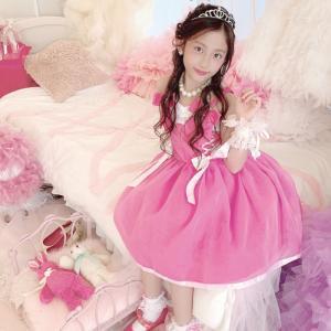 ピンクアンジェドール 子供ドレス ピンク 110cm-140cm ネコポス不可 [M便1/0] angelsrobe