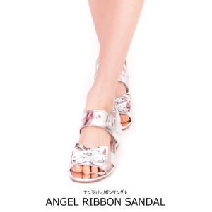 エンジェルリボンサンダル シルバー 子供靴 17-24cm  ネコポス不可 返品交換不可 小さめサイズです|angelsrobe
