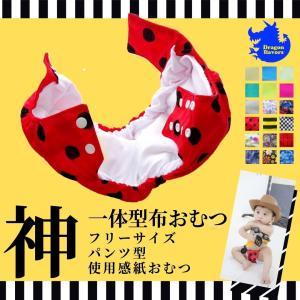 ドラゴンフレーバーズDragon Flavors一体型ドラゴンおむつポケットタイプフルオープンパンツ型  布おむつ かわいい 内祝い 出産祝い 保育園 入園グッズ|angena-shop