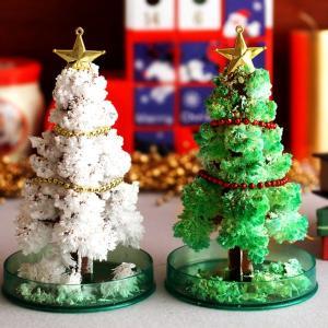 毎年大人気のマジッククリスマスツリー!魔法のお水を入れて12時間待てば、モコモコツリーの完成。お子様...