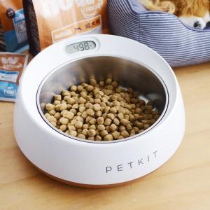 ペットの食事用フードボウルとスケールがひとつになった、PETKITスケール・フィーディングボウルLは...