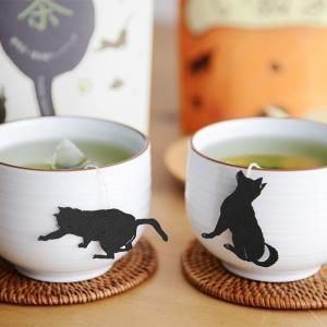 静岡県産の高級一番茶葉のティーバッグに、犬や猫の愛らしいシルエットのタグが付けられた「イヌ茶/ネコ茶...