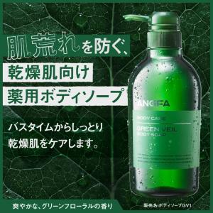 【乾燥肌に】薬用ボディーソープ グリーンベール ボディソープ アンファー angfa 02