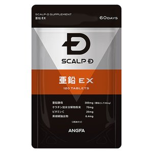 亜鉛サプリメント 亜鉛EX(120粒2か月分)スカルプDサプ...