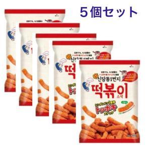 5個セット シンダンドン 1番地 トッポキ スナック 韓国 食品 ピリ辛 xa004-1|angieseoul