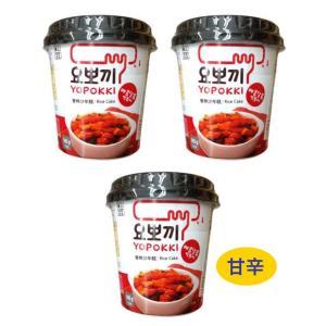 3個セット 韓国食品 テヘ 甘辛 トッポキ ソース付 140g 即席 カップ レンジでチン おうち時間 xa007-1|angieseoul