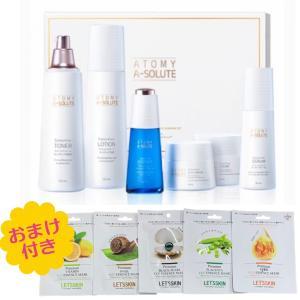 ATOMY A-SOLUTE アトミ 化粧品 エイソルート セレクティブ 化粧水 乳液 エッセンス セラム アイクリーム クリーム  6種セット za099-0|angieseoul