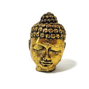 仏陀の置物 ゴールド レジン [高さ約11.5cm] おしゃれな エスニック アジアン 置物 卓上インテリア 仏陀 アジアン 雑貨 バリ 雑貨 タイ 雑貨|angkasa