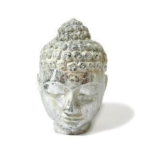 アジアのインテリアアイテムでは欠かせない仏陀、 頭をモチーフにした華やかなゴールドカラーの置物です。...