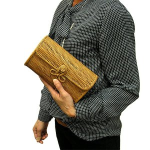 アタのクラッチバッグ アタバッグ バスケット アジアン おしゃれな バック アジアン 雑貨 バリ 雑貨 タイ 雑貨|angkasa