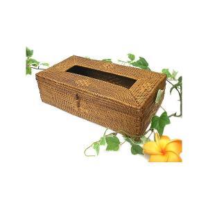 アタ ティッシュケース ブラウン アジアン雑貨 バリ雑貨 エスニック おしゃれなティッシュケース|angkasa