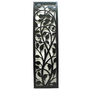 壁掛け木彫りのレリーフ A ブラック H.105cmx30cm おしゃれな 壁掛け エスニック アート パネル レリーフ アジアン雑貨 インテリア  angkasa