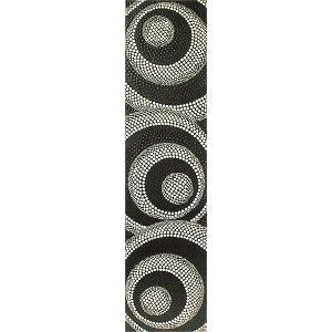 バリアート ドットペイントアート 縦 黒・白 渦巻き [120cmx30cm] アジアン雑貨 バリ雑貨 |angkasa