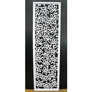壁掛け木彫りのレリーフ G ロータス花模様 ホワイト120 [H.120.5cmx35cm] おしゃれな 壁掛け エスニック アート パネル レリーフ アジアン雑貨 インテリア angkasa