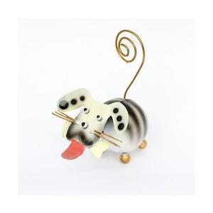 アジアン雑貨 バリ雑貨 アニマル カードホルダー 犬ホワイト|angkasa