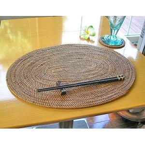アタ ランチョンマット 楕円形 大 [約38x29cm] アジアン雑貨 バリ エスニック おしゃれなテーブルマット |angkasa
